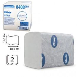 Бумага туалетная KIMBERLY-CLARK Kleenex, комплект 36 шт., Ultra, листовая, 200 л., 18,6х12,5 см, 2-слойная, диспенсер 601545, 8408