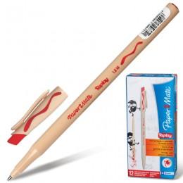 Ручка стираемая шариковая PAPER MATE Replay, КРАСНАЯ, корпус бежевый, узел 1,2 мм, линия письма 1 мм, S0190804