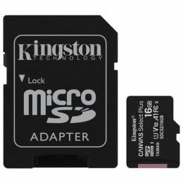 Карта памяти microSDHC 16 GB KINGSTON Canvas Select Plus, UHS-I U1, 100 Мб/с (class 10), адаптер, SDCS2/16GB