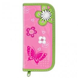 Пенал BRAUBERG, 1 отделение, ламинированный картон, 19х9 см, Розовые цветы, 103709
