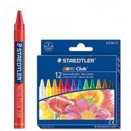 Восковые мелки STAEDTLER (Германия) Noris Club, 12 цветов, картонная упаковка, европодвес, 220 NC12