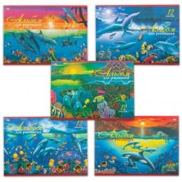 Альбом для рисования, А4, 12 л., обложка офсет, HATBER VK