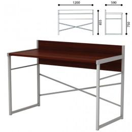 Стол письменный на металлокаркасе, 1200х590х855 мм, серый каркас, ЛДСП,