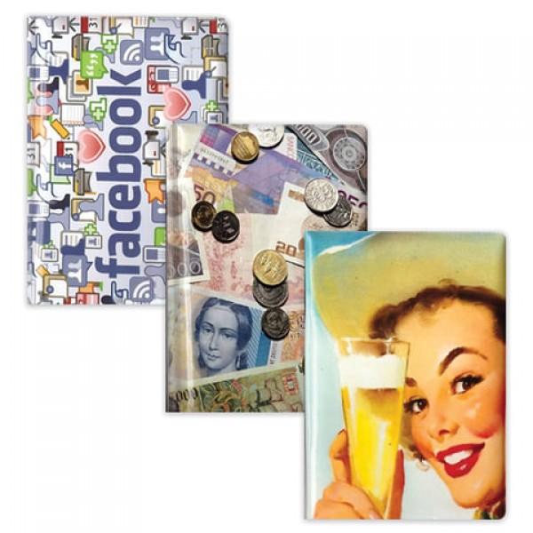 Обложка для паспорта с фотопечатью, ПВХ, дизайн ассорти, ОД5-15