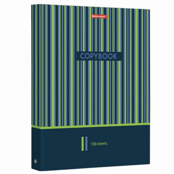Тетрадь на кольцах БОЛЬШОГО ФОРМАТА (225х300 мм) А4, 100 л., обложка картон, клетка, глянцевая ламинация, BRAUBERG,