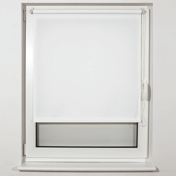 Штора рулонная BRABIX 40х175 см, текстура - лён, защита 55-85%, 200 г/м2, белый S-5, 605970