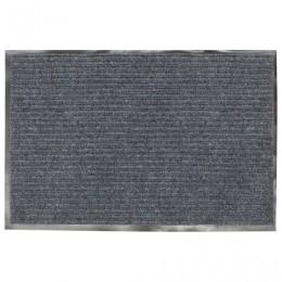 Коврик входной ворсовый влаго-грязезащитный VORTEX, 90х60 см, толщина 7 мм, серый, 22087