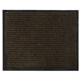 Коврик входной ворсовый влаго-грязезащитный VORTEX, 120х150 см, толщина 7 мм, коричневый, 22102