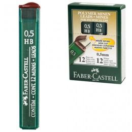 Грифели запасные FABER-CASTELL, КОМПЛЕКТ 12 шт., HB, 0,5 мм, 521500