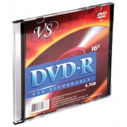 Диск DVD-R VS, 4,7 Gb, 16x, Slim Case, VSDVDRSL01