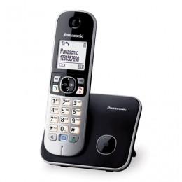 Радиотелефон PANASONIC KX-TG6811RUB, память 50 номеров, АОН, повтор, спикерфон, полифония, чёрный