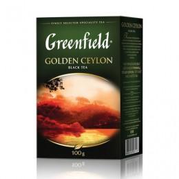 Чай GREENFIELD (Гринфилд) Golden Ceylon ОРА, черный, листовой, 100 г, 0351
