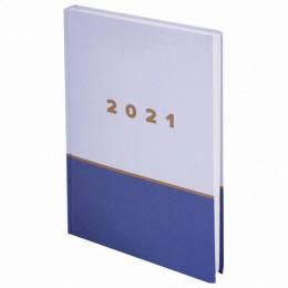 Ежедневник датированный 2021 (145х215мм), А5, STAFF, ламинированная обложка, Дизайн 4, 111819