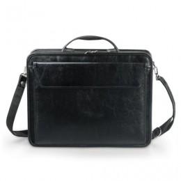 Портфель Паритет, 38х29х6 см, искусственная кожа, 3 отделения, на молнии, черный