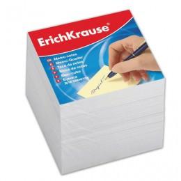 Блок для записей ERICH KRAUSE непроклеенный, куб 9х9х9 см, белый, белизна 95-98%, 4454