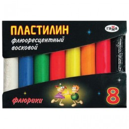 Пластилин восковой флуоресцентный ГАММА