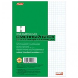 Сменный блок к тетради на кольцах, А5, 120 л., HATBER, Белый, 120СБ5B1 02449, T068786