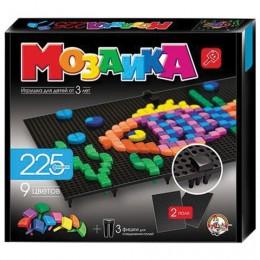 Мозаика фигурная, 225 элементов, 9 цветов, 2 черных поля, размер поля 20х23 см, 10 КОРОЛЕВСТВО, 984