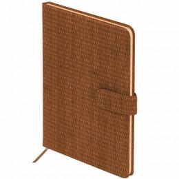 Еженедельник датированный 2022 А5 (145х215мм) BRAUBERG Instinct, кожзам, коричневый,, 112865