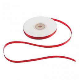 Лента обвязочная атласная для прошивки документов, ширина 6 мм, 4х25 м (100 м), +/- 5%, красная, 601934