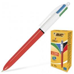 Ручка шариковая автоматическая BIC 4 Colours, 4 цвета (синий, черный, красный, зеленый), узел 0,8 мм, линия письма 0,3 мм, 889971