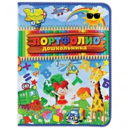 Папка-портфолио дошкольника, 8 вкладышей, универсальная, ламинованный картон, с рисунком, ПТШ-2