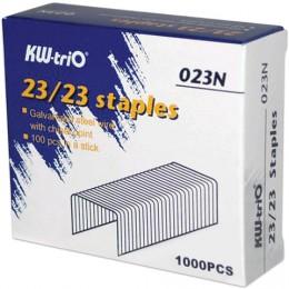 Скобы для степлера KW-trio № 23/23, 1000 шт., в картонной коробке, до 200 листов, -023N