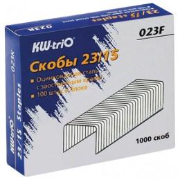 Скобы для степлера KW-trio № 23/15, 1000 штук, в картонной коробке, до 120 листов, -023F