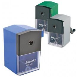 Точилка механическая KW-trio, металлический механизм, пластиковый корпус, ассорти (синяя, зеленая, серая), -305A