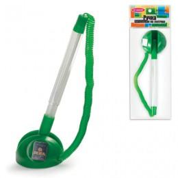 Ручка шариковая настольная BEIFA (Бэйфа) СтопПен, СИНЯЯ, корпус прозрачный/зеленый, линия письма 0,7 мм, AP8863-GR