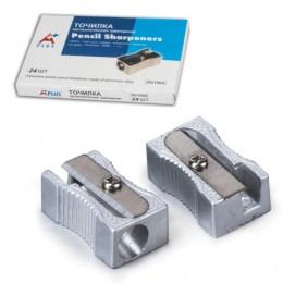 Точилка BEIFA (Бэйфа) A Plus, металлическая клиновидная, в картонной коробке, AG1004A/AG1004