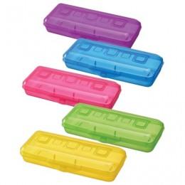 Пенал СТАММ пластиковый, тонированный, цвет ассорти, ПН16