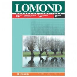 Фотобумага LOMOND для струйной печати, А4, 210 г/м2, 50 л., двухсторонняя глянцевая/матовая, 0102021
