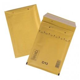 Конверт-пакеты с прослойкой из пузырчатой пленки (170х220 мм), крафт-бумага, отрывная полоса, КОМПЛЕКТ 100 шт., С/0-G