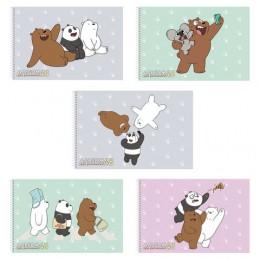 Альбом ддя рисования, А4, 48 листов, спираль, обложка картон, HATBER, 205х300 мм, Вся правда о медведях (5),48А4Всп