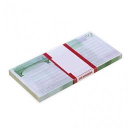 Блок для записей 100 евро, проклеенный, 16х8х1 см, NH0000014
