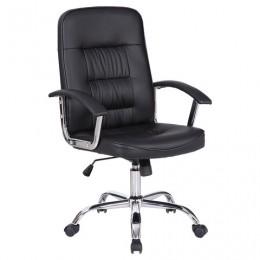 Кресло BRABIX Bit EX-550, хром, экокожа, черное, 531838