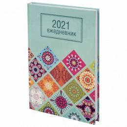 Ежедневник датированный 2021 (145х215мм), А5, STAFF, ламинированная обложка, Дизайн 2, 111817