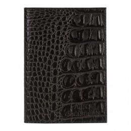 Бумажник водителя BEFLER Кайман, натуральная кожа, тиснение, 6 пластиковых карманов, черный, BV.1.-13