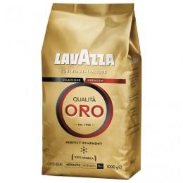 Кофе в зернах LAVAZZA Qualita Oro, арабика 100%, 1000 г, вакуумная упаковка, 2056