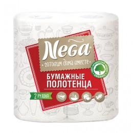Полотенца бумажные бытовые, спайка 2 шт., 2-х слойные (2х13,2 м), NEGA (