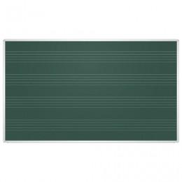 Доска для мела магнитная, 85x100 см, зеленая, под ноты, алюминиевая рамка, EDUCATION