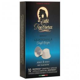 Капсулы для кофемашин NESPRESSO GUATEMALA, натуральный кофе, Италия, 10 шт. х 5,2 г, DON CORTEZ