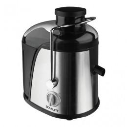 Соковыжималка SCARLETT SC-012, стакан 0,55 л, емкость для жмыха 1,5 л, мощность 600 Вт, пластик/нержавеющая сталь, серебро