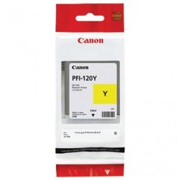 Картридж струйный CANON (PFI-120Y) для imagePROGRAF TM-200/205/300/305, желтый, 130мл, ориг, 2888C001