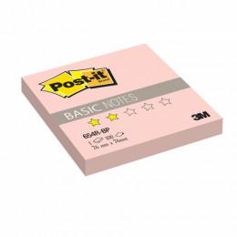 Блок самоклеящийся (стикер) POST-IT Basic, 76х76 мм, 100 л., розовый, 654R-BP