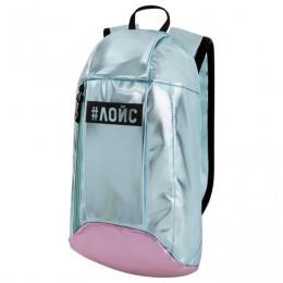 РЕЗЕРВ Рюкзак STAFF FASHION AIR, блестящий, ЛОЙС, бирюзово-розовый, 40х11х23 см, код, 270302