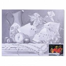 Холст на картоне с контуром BRAUBERG ART CLASSIC, Натюрморт, 30х40 см, грунтованный, 100% хлопок, 190626