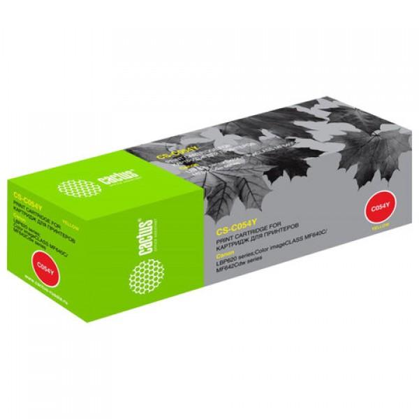 Картридж лазерный CACTUS (CS-C054Y) для Canon LBP 621/623, MF 641/643/645, желтый, ресурс 1200 страниц