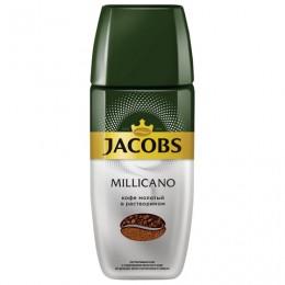 Кофе молотый в растворимом JACOBS MONARCH Millicano, сублимированный, 95 г, стеклянная банка, 41015